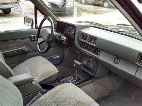 85 Toyotum Interior by Black Light Grey Cloth Interior 4 Cylinder Auto One