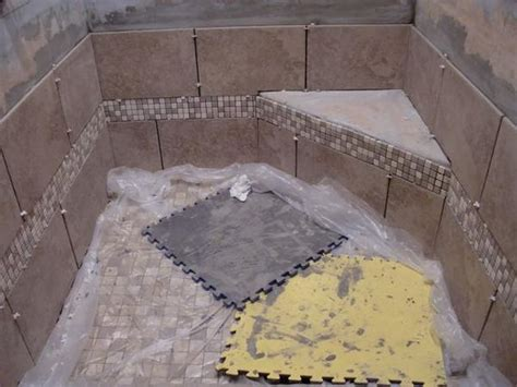 granite slab shower seat thinset or silicone ceramic