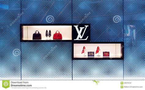 louis vuitton bag store shop window editorial photography