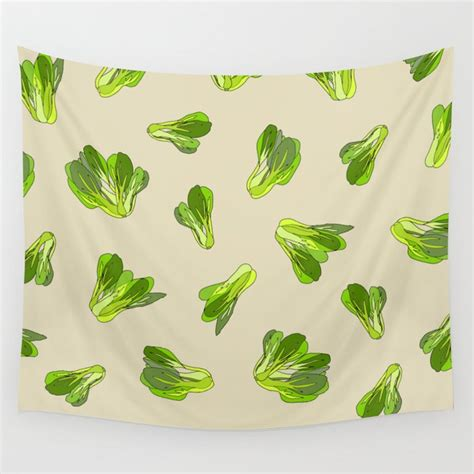 Plastic bag with caramel popcorn mockup 54628. Lettuce Bok Choy Vegetable Wall Tapestry by notsniw | Society6
