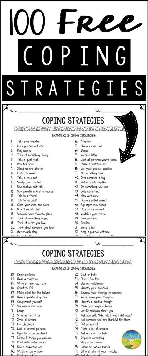 100 Free Coping Strategies  Counseling & Social Work  Coping Skills, Counseling, Anxiety