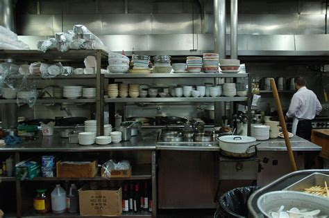 tai tung chinese restaurant kitchen stacked bowls