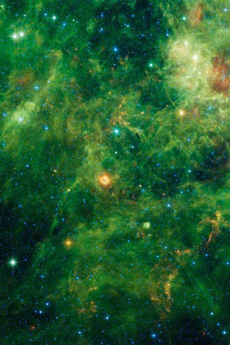Green Galaxy Iphone Wallpaper Hd