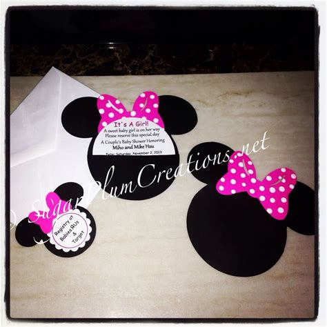 minnie mouse baby shower invitations city 20 custom made minnie mouse baby shower invitations