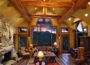 interior of log homes projects