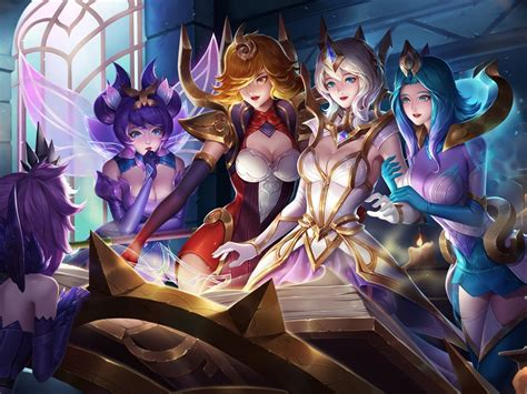 elementalist lux skin video game league  angel fan art