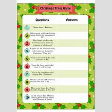 Printable Christmas Trivia Game  Cub Scouts Christmas