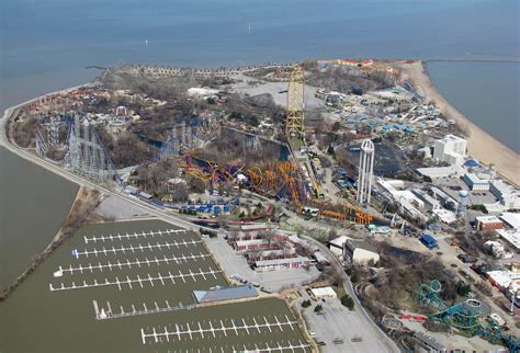 Cedar Point Aerial | Cedar Point Amusement Park Sandusky ...