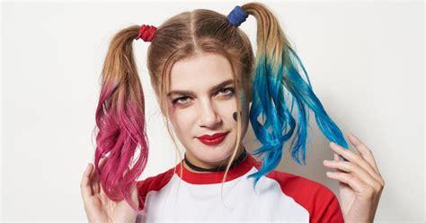 harley quinn hair tutorial popsugar beauty
