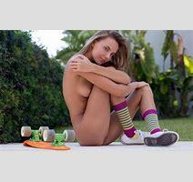 Wallpaper Katya Clover Clover Mango Caramel Auburn Outdoors Naked Skateboard Small Tits