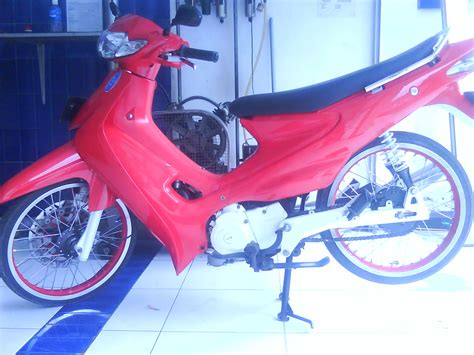Modif Motor Smash 110 by Modif Motor Suzuki Smash Modification At Malang Indonesia