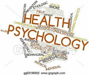 Clip Art - Word cloud for health psychology. Stock ...