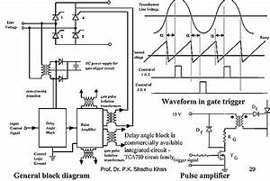 thyristor gate control or firing circuit design power With scr circuits