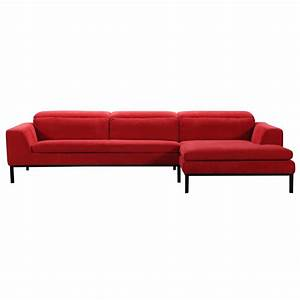 2 piece clayton modern red fabric sectional With 2 piece red sectional sofa