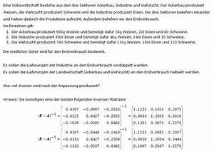 Inverse Berechnen Matrix : inverse matrix inverse matrix wie viel weizen wird nach der anpassung produziert mathelounge ~ Themetempest.com Abrechnung