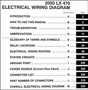 200lexus Lx 47wiring Diagram Manual Original
