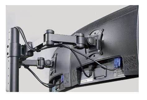 dimensione scrivania supporto da scrivania per 2 monitor con attacco a pinza