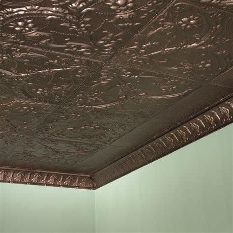 Lyric waferglazed porcelain round penny tile in flirt is a lovely shade of light pink, ideally suited for kitchen and bath, including. Great Lakes Tin Saginaw - 2' x 2' Tin Nail-Up Ceiling Tile at Menards®