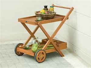 Desserte De Jardin À Roulettes : table roulante desserte de jardin ~ Nature-et-papiers.com Idées de Décoration