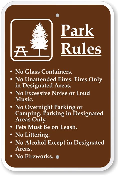 park signs brown park guide signs park signs