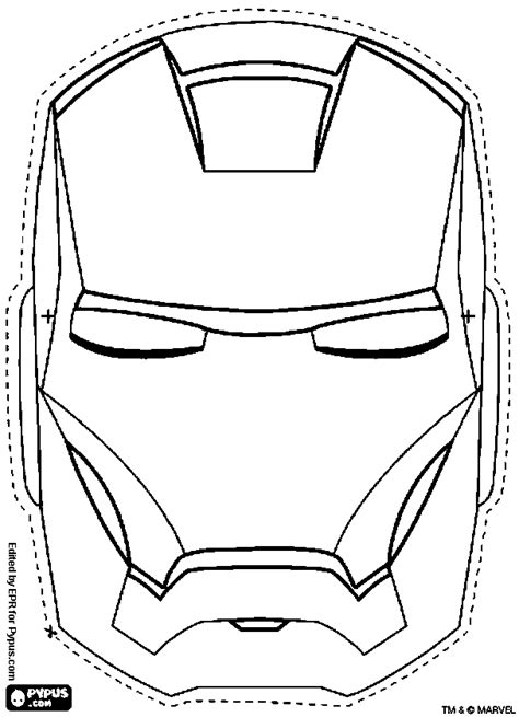 iron mask template mask coloring pages coloring pages