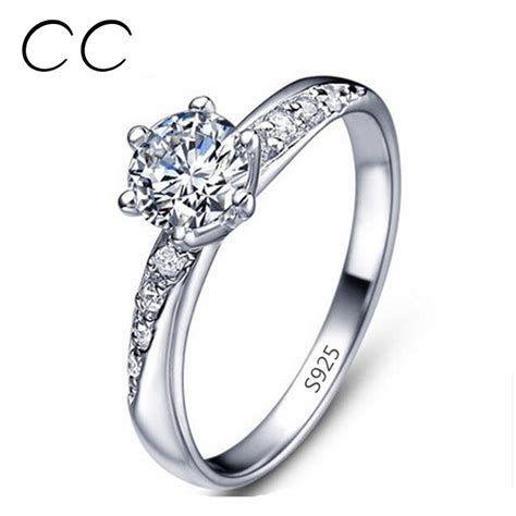 sterling silver wedding bands white gold plated ring wedding bands engagement ring 925