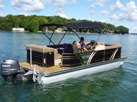 Tritoon Boats Price by 2013 Used Veranda V22rl Vertex Tritoon Pontoon Boat For