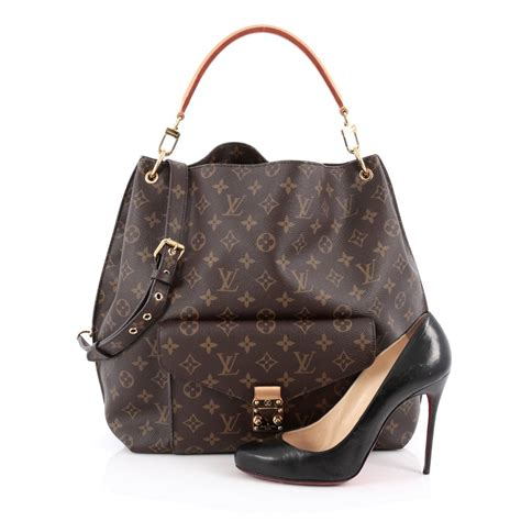 buy louis vuitton metis hobo monogram canvas brown