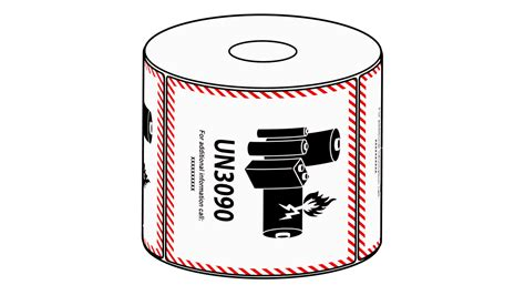 xmm lithium battery mark  label   roll