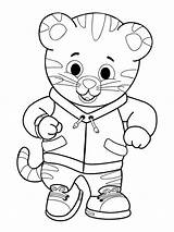 Tiger Daniel Coloring sketch template
