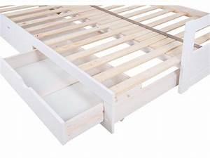 Lit Gigogne 2 Places : lit banquette gigogne 2x90x190 cm 2 tiroirs melody ~ Preciouscoupons.com Idées de Décoration