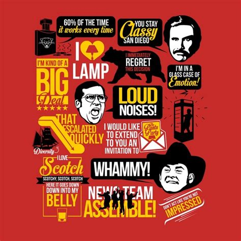 t shirts anchorman quotes red teepublic