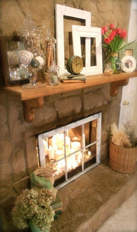 Best 25 Candles In Fireplace Ideas On Pinterest Candle