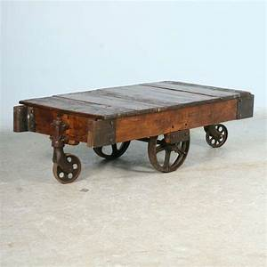 antique vintage luggage cart coffee table circa 1920 with With vintage coffee table with wheels