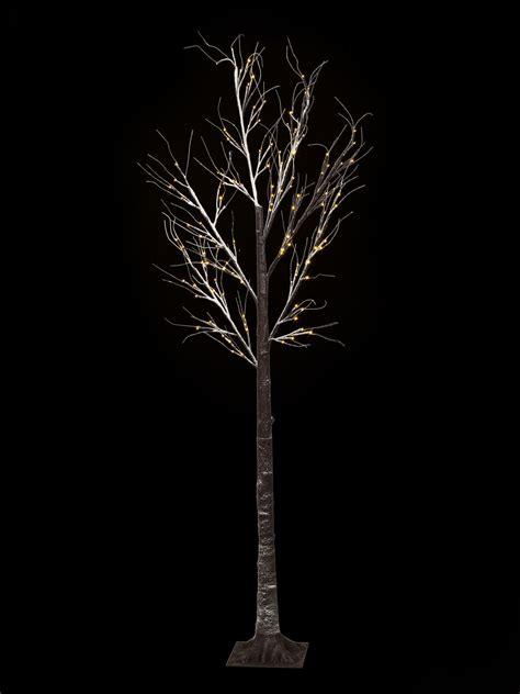 lighted christmas twig tree set christmas pre lit twig 120 led floor standing 7ft 210cm