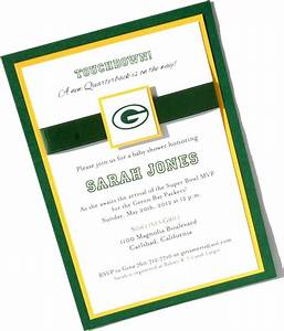 17 best images about packer baby shower on pinterest With bay photo wedding invitations