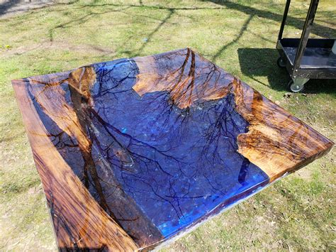 In this video i build a live edge river table with the most insane piece of walnut i have ever seen. Live Edge Epoxy River Coffee Table Slab Wood Custom Order   Etsy