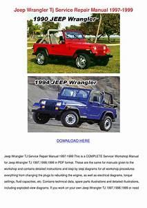 Jeep Wrangler Tj Service Repair Manual 1997 1 By