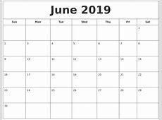 August 2019 My Calendar