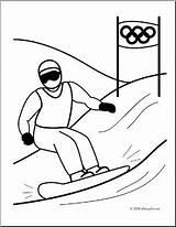 Coloring Olympics Winter Snowboarding Clip Snowboard Sports Abcteach Clipart Ski Sport sketch template