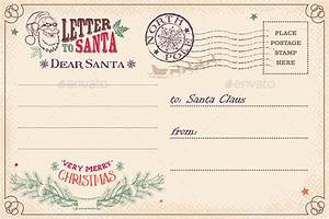 printable vintage postcard template dondrupcom With letter to santa postcard