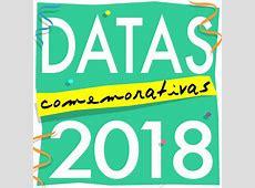 Datas Comemorativas 2018 com imagens grátis para você