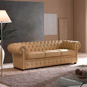 canape chesterfield contemporain design classique cuir With tapis design avec grand canapé chesterfield