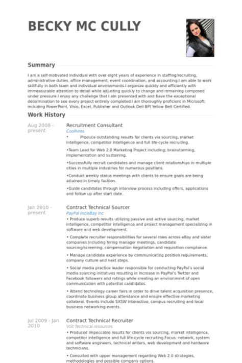 recruitment consultant cv consultant en recrutement exemple de cv base de données