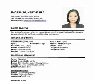 Pickingupmymat  21 Elegant Curriculum Vitae Sample For Seaman