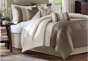 Brenna Natural 7 Pc Queen Comforter Set - Queen Linens (Beige)
