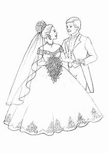 Dessin Couple Mariage Couleur : dessin colorier d 39 un beau couple qui s 39 est mari ~ Melissatoandfro.com Idées de Décoration