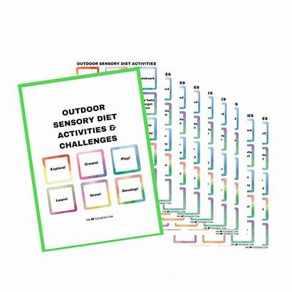 Sensory Diet Cards Outdoor Processing Therapy Strategies