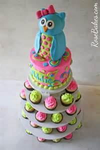 cupcake displays owl paisleys cake and cupcake tower bakes