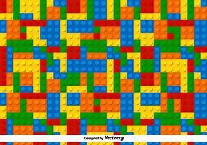 Multicolor Lego Vector Pattern - Download Free Vector Art ...